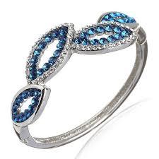 bangle bracelet swarovski images Leaf pattern bangle bracelet in two tone swarovski crystals jpg