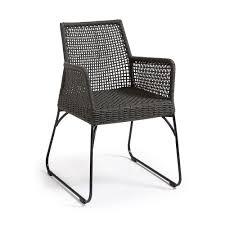 fauteuil en corde ensemble de 2 chaises de jardin molly en corde et métal