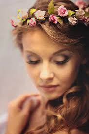 floral headdress crown bridal flower crown flower girl crown