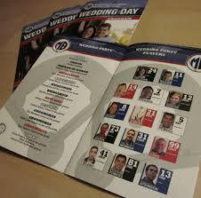 magazine wedding programs sports themed weddings custom designed day wedding programs