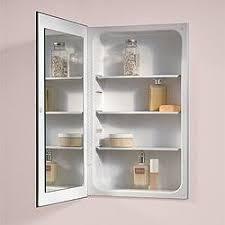 Medicine Cabinets For Bathroom by Amazon Com Jensen 1035p24whg Cove Single Door Recessed Medicine