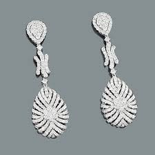 teardrop diamond earrings designer teardrop dangle diamond earrings 5 65ct 18k gold