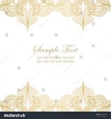Design Patterns For Invitation Cards Invitation Card Lace Ornamentvintage Gold Lace Stock Vector