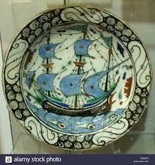 Ottoman Pottery Iznik Ceramics 16th 17th Century Polychrome Glazed Ottoman