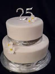 Silver 25th Wedding Anniversary Cake Wedding Cake Cake Ideas By