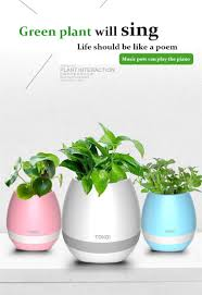 wholesale new product 114x114x117mm led music plant pot for sale
