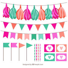 colorful garland collection free vectors ui