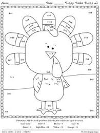 outline of turkeys for tangram search teaching math
