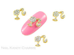 barbie silhouette gold u2013 nail kandy charms