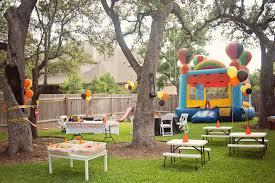 joyful backyard garden kids party decor inspiration with green