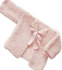 Garter Ridge Baby Cardigan In Lion Brand Cotton Ease 70351ad