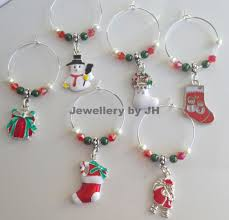 wine glass charms christmas style wine charms pinterest wine