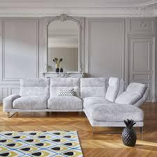 conforama canap canapé d angle fixe 4 places en tissu chelsea pas cher canapé