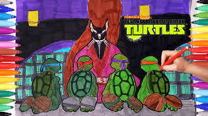 teenage mutant ninja turtles tmnt coloring pages how to draw