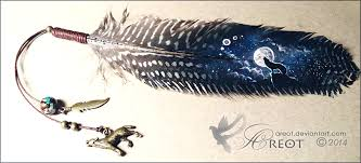 feather painting howling wolf by areot on deviantart