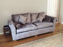 Grey Silver Sofa Grey Silver Crushed Velvet Sofas In Nottingham Expired Friday Ad