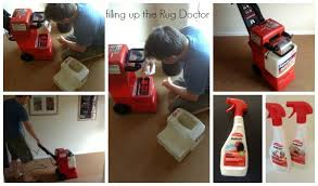 reviewing a rug doctor carpet cleaner talk about clean