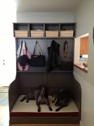 diy built in dog bed storage unit the pups pinterest dog