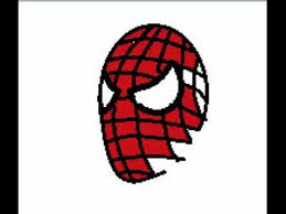 draw spiderman face paint