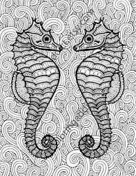 coloring pages digital art for all you robots u2014 seahorse coloring