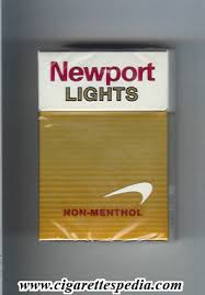 newport non menthol lights ks 20 h usa cigarettes pedia