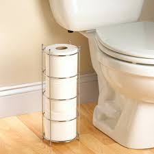 bathroom free standing toilet paper holder with single post