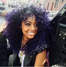 black hairstyles purple natural hair styles and fashion purple and black curly hair
