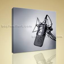 print canvas wall art vintage microphone picture modern abstract