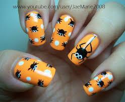 nail art gallery polka dot spiders halloween design cute nail