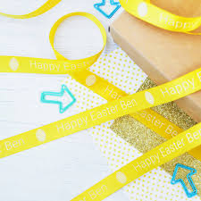 easter ribbon easter 15mm personalised printed ribbon by altered chic
