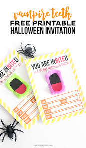 Invitation Card For Get Together Free Printable Vampire Halloween Invitation Printable Crush