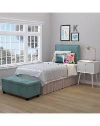 Twin Headboard Upholstered by Amazing Deal Handy Living Arabella Turquoise Blue Velvet