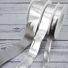metallic ribbon silver high shine metallic ribbon