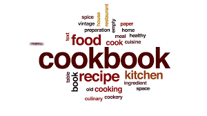 animation cuisine cookbook word cloud text design animation motion