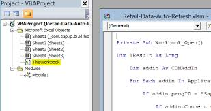 automated updating of bw data in excel files bex u0026 ao via vba