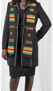 kente graduation stoles class of 2018 handwoven authentic kente graduation stole