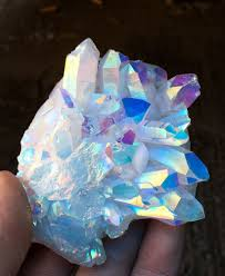 aura crystals 160g angel aura quartz cluster crystal platinum silver coated