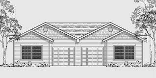 ranch duplex floor plans one story duplex house plans narrow bedroom small modern country
