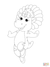 baby pop in her ballet shoes coloring page free printable