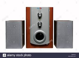 High Tech Home Stereo System Electronic Equipment Loudspeakers Sound High Tech