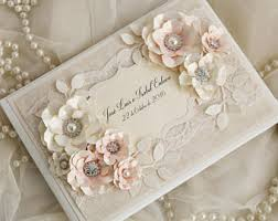 vintage wedding guest book lace guest book etsy