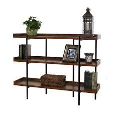 Etagere Wood Gracie Oaks Calona Modern Wood And Steel 3 Shelf 36