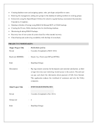 Sample Sql Server Dba Resume by Dba Resume