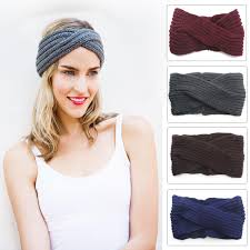 knitted headband new women fashion cross knitted headbands girl handmade hair