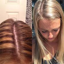 blonde hair with chunky highlights color correction from chunky 90s highlights to beautiful blonde