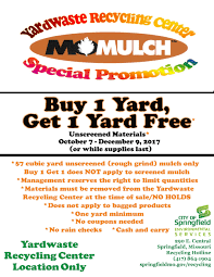 yardwaste recycling center springfield mo official website