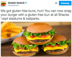 you can get a gluten free bun at shake shacks nationwide food
