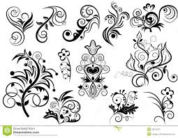 black and white floral design royalty free stock image image