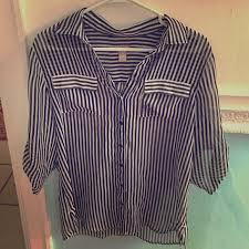 black and white striped blouse 91 chico s tops chicos sheer black and white striped blouse