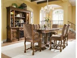 mathis brothers dining tables bht 394 950 951 bernhardt villa hermosa gathering table mathis